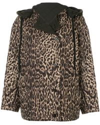 Ports 1961 - Leopard Quilted Jacket - Lyst