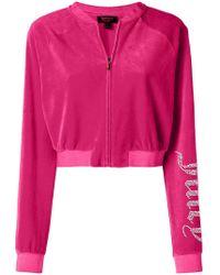 Juicy Couture - Swarovski Personalisable Velour Crop Jacket - Lyst