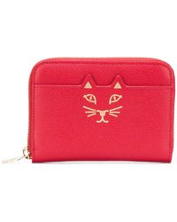 Charlotte Olympia - Feline Zip-around Square Wallet - Lyst