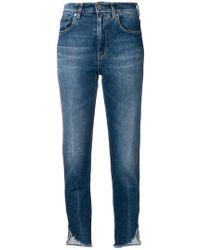 Pinko - Frayed Hem Jeans - Lyst