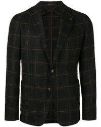 Tagliatore - Checked Print Jacket - Lyst