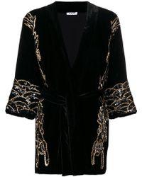 P.A.R.O.S.H. - Sequin-embellished Velvet Jacket - Lyst