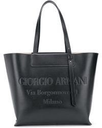 c74a928b24d Giorgio Armani - Sac cabas à logo embossé - Lyst