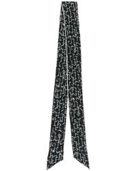 Givenchy - Logo Embroidered Scarf - Lyst