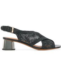 Clergerie - Woven Crossover Strap Sandals - Lyst