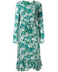 Essentiel Antwerp - Floral Tie Waist Midi Dress - Lyst