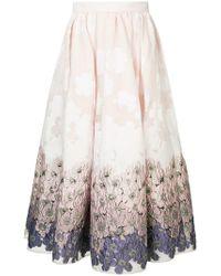 Huishan Zhang - Victoria Brocade Skirt - Lyst