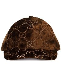 Gucci - Brown GG Embroidered Silk-blend Baseball Cap - Lyst