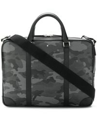 Montblanc - Camouflage Print Laptop Bag - Lyst