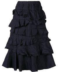 Comme des Garçons - Tiered Ruffle Skirt - Lyst