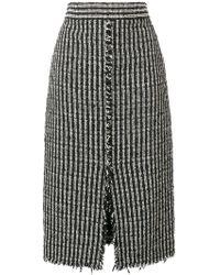 Alexander McQueen High Waist Boucle Skirt