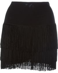 Norma Kamali - Short Fringed Skirt - Lyst