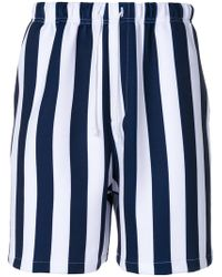 Noon Goons - Red Striped Shorts - Lyst