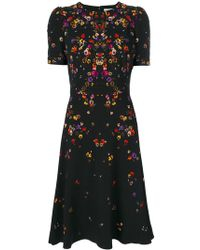 Givenchy | Night Pansy Printed Tea Dress | Lyst