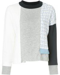 Loveless - Asymmetric Patchwork Sweater - Lyst
