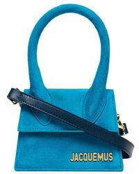 Jacquemus - Blue Le Sac Chiquito Suede Mini Bag - Lyst