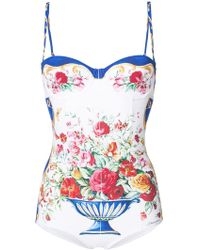 Dolce & Gabbana - Floral One-piece - Lyst