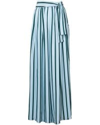 TOME - Striped Palazzo Trousers - Lyst