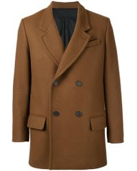 AMI - Double Breasted Short Coat - Lyst