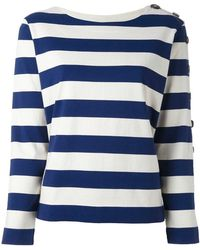 M.i.h Jeans - Button Sleeve Breton Jumper - Lyst