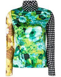 Richard Quinn - Colour-block Turtle Neck Top - Lyst