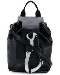 ab18136555ed Lyst - EA7 Logo Print Oversized Backpack in Black for Men
