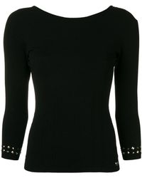 Twin Set - Studded-cuffs Fitted Sweater - Lyst