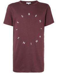 Les Benjamins - Printed T-shirt - Lyst