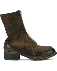 Guidi - Zip-up Distressed Boots - Lyst