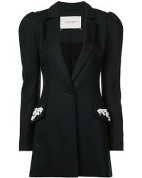 Carolina Herrera - Embellished Pocket Jacket - Lyst