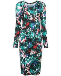 Prabal Gurung - Floral Print Fitted Dress - Lyst
