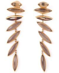 Antonio Bernardo - 18kt Yellow Gold 'wing' Clip-on Earrings - Lyst