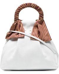 Trademark - White Hazel Shopper Nappa Leather Shoulder Bag - Lyst