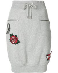 Karl Lagerfeld | Applique Patch Detail Skirt | Lyst