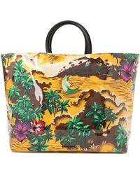 DSquared² - Hawaiian Printed Tote Bag - Lyst