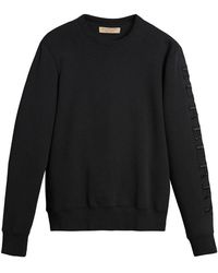 Burberry - Embroidered Sleeve Jersey Sweatshirt - Lyst