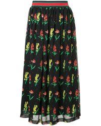 MUVEIL - Floral Print Midi Skirt - Lyst