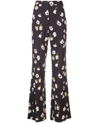 Lela Rose - Pantalones con motivo floral - Lyst