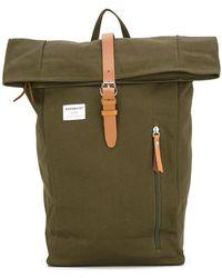 Sandqvist   Leather Trim Backpack   Lyst