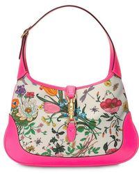 Gucci - Jackie Medium Flora Hobo Bag - Lyst