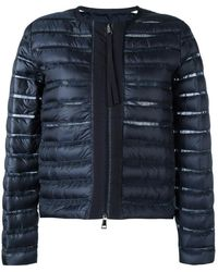 Moncler - Sheer Panel Padded Jacket - Lyst