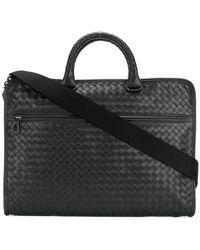 0d26681d86a2 Lyst - Bottega Veneta Woven Briefcase in Brown for Men