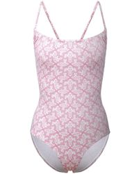 Le Sirenuse - Geometric Pattern Swimsuit - Lyst