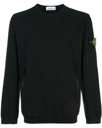 Stone Island - Zipped Pocket Sweatshirt - Lyst