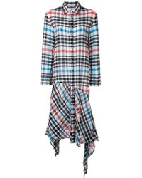 Tsumori Chisato - Checked Asymmetric Dress - Lyst