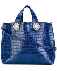 Versace Jeans - Croc-effect Tote Bag - Lyst
