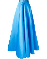 Maison Rabih Kayrouz - Blue Pleated Skirt - Lyst