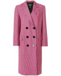 MSGM - Double-breasted Coat - Lyst