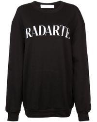 Rodarte - Sweatshirt mit Logo-Print - Lyst