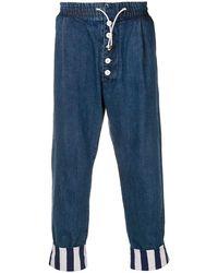Sunnei Drop-crotch Pants - Blue